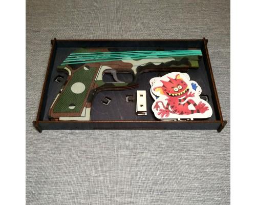 Набор подарочный резинкострел цветной + мишени